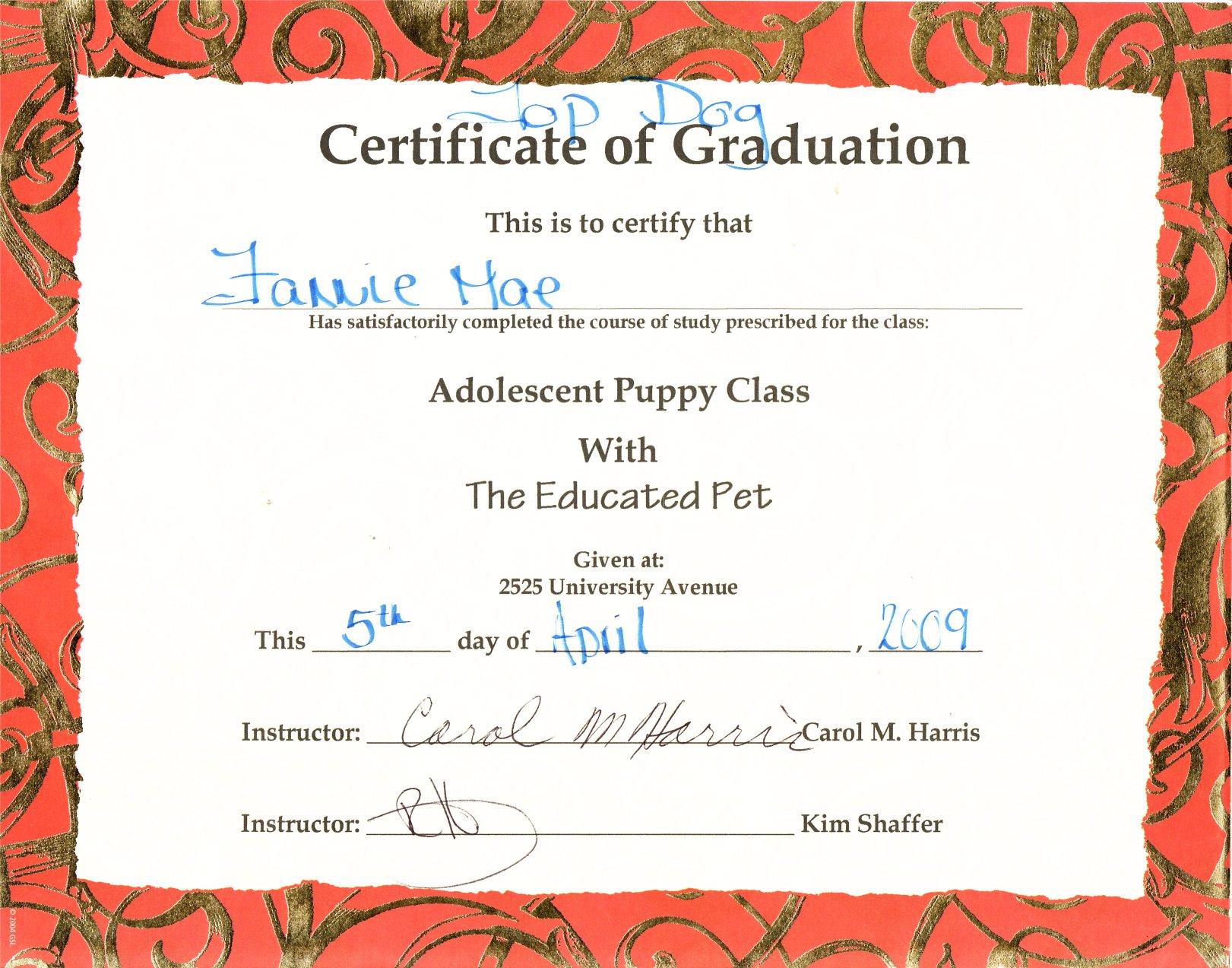 valedictorian certificate